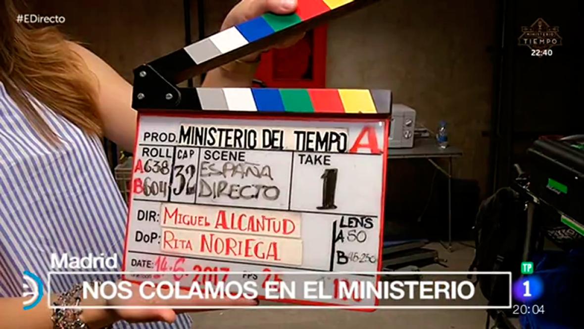 España Directo - Un día de rodaje en el 'Ministerio del Tiempo'
