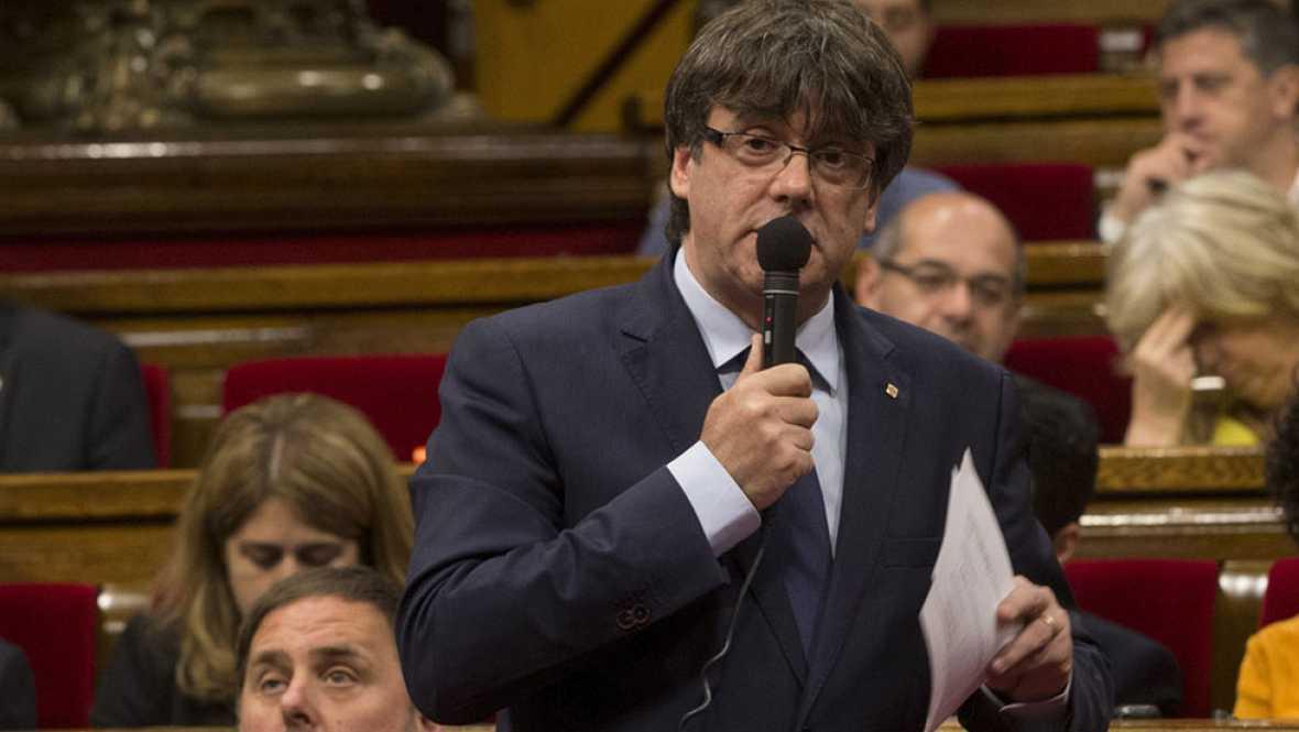 Puigdemont solicita por carta a Pastor un debate sobre el referendum en el Congreso