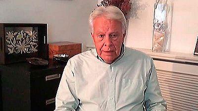 """Felipe González desea a Sánchez en un breve mensaje por vídeo """"capacidad de acierto"""""""