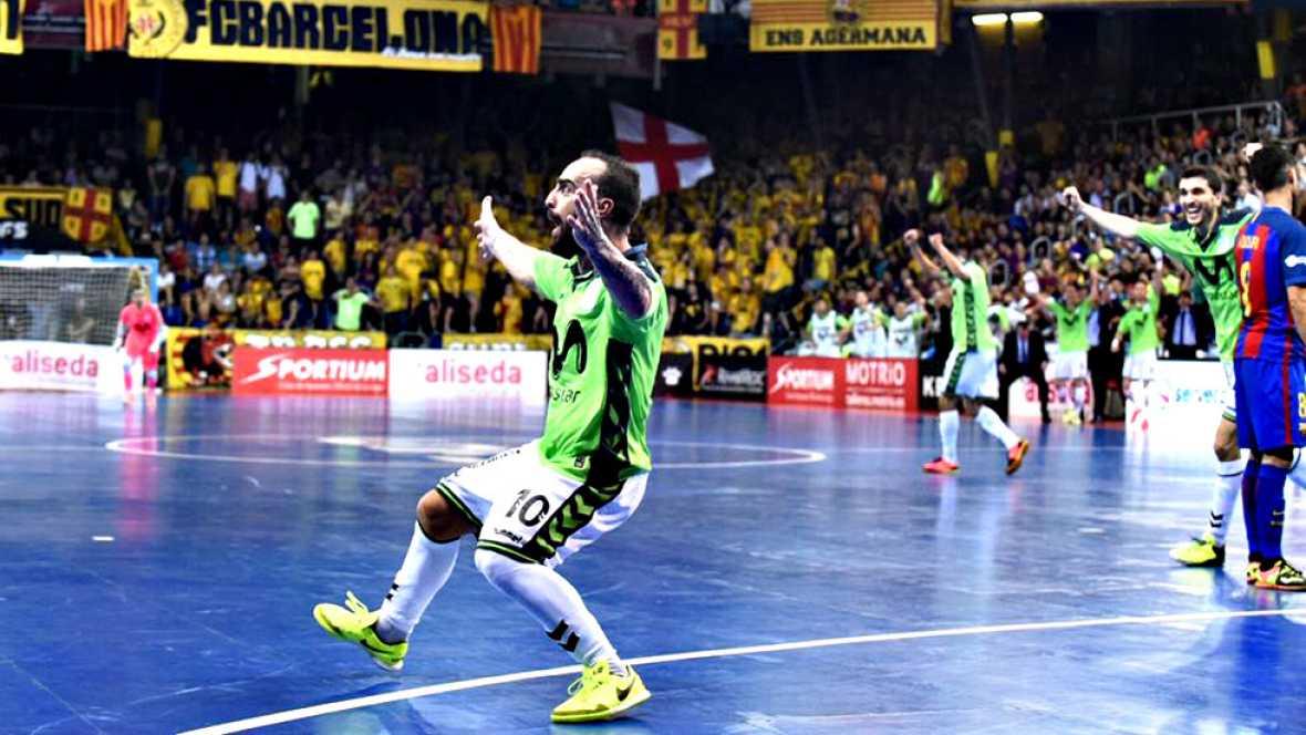 El equipo madrileño se impone 1-6 en Barcelona y llevará la final de la LNFS al quinto y definitivo partido.
