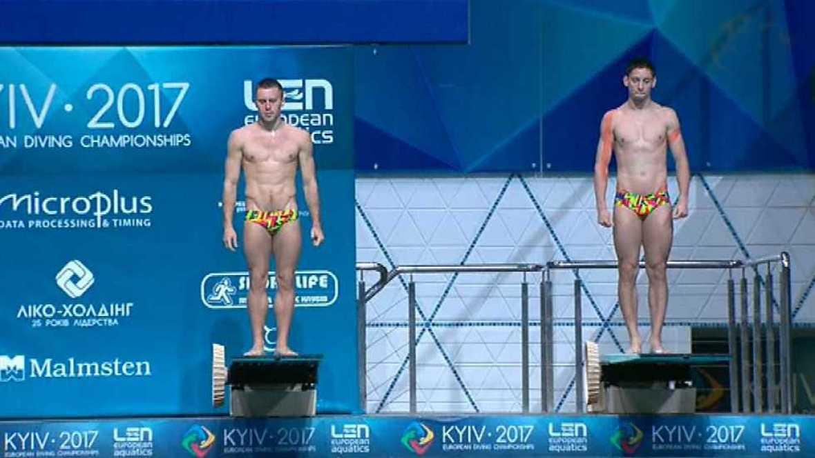 Natación - Saltos 'Campeonato de Europa'. Final 3MT Sincro Masculino  desde Kiev (Ucrania) - ver ahora