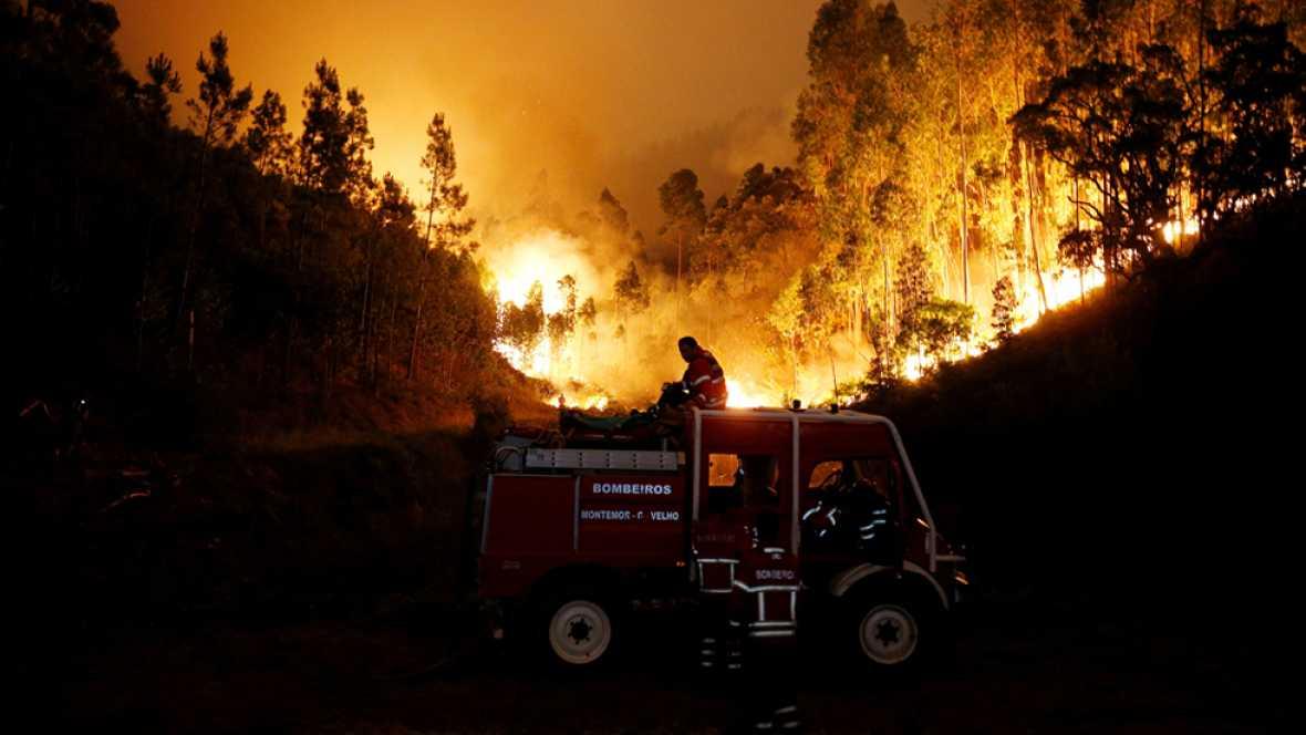Decenas de muertos en un incendio en el centro de Portugal