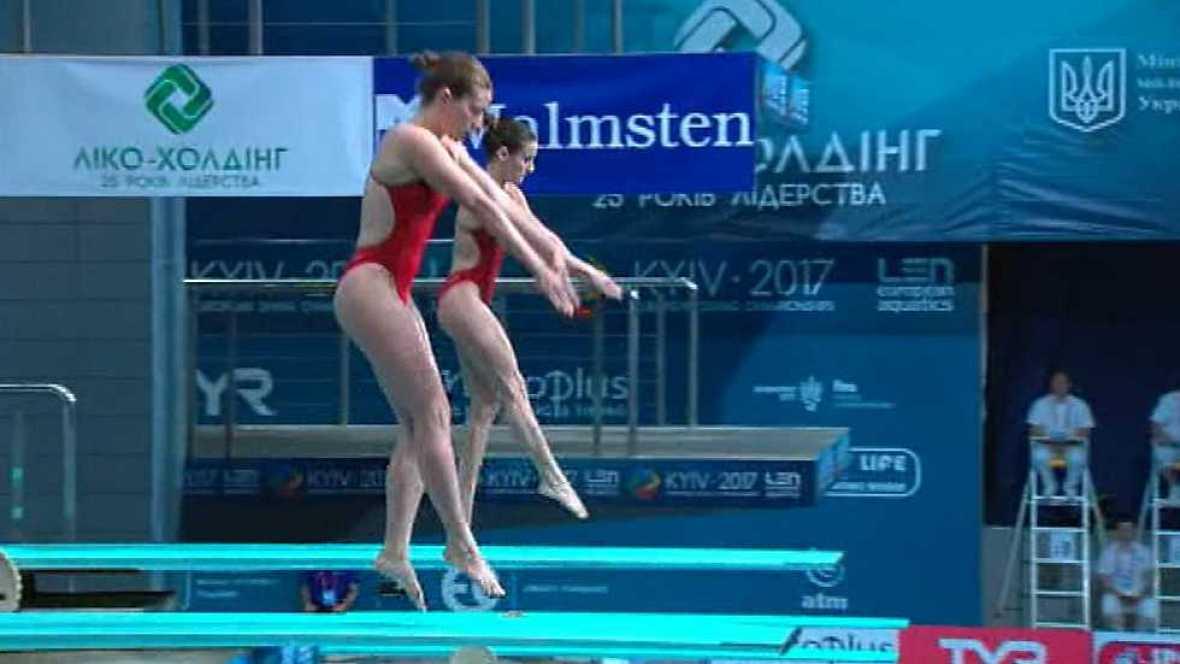 Natación - Saltos 'Campeonato de Europa'. Final 3MT Sincro Femenino  desde Kiev (Ucrania) - ver ahora