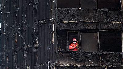 El revestimiento del edificio incendiado era de un material inflamable
