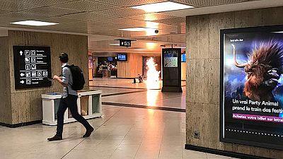 Militares belgas abaten a un hombre con explosivos en la Estación Central de Bruselas