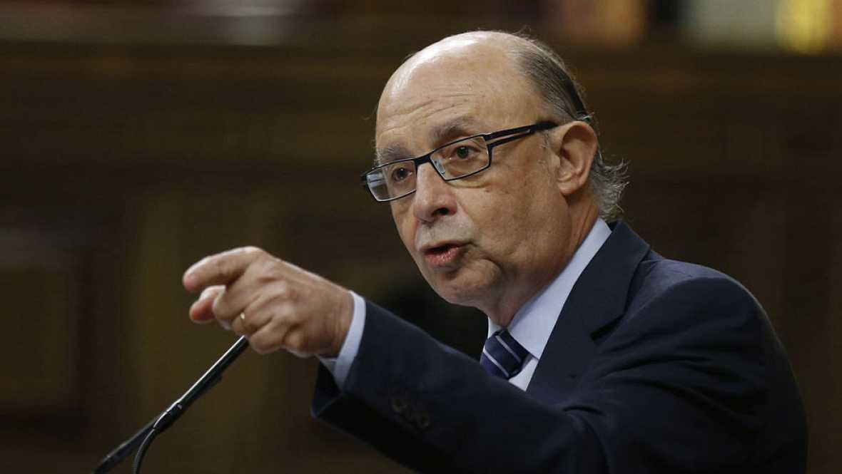 Cristóbal Montoro ha respondido hoy en el Congreso a PSOE, Podemos y Ciudadanos la sobre la amnistía fiscal.