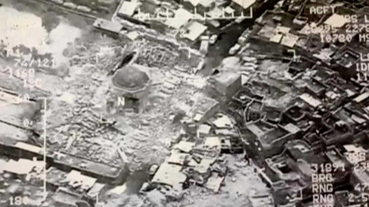 Las tropas iraquíes reconquistan la simbólica mezquita de Mosul donde el Dáesh proclamó su califato 4074847?w=1180&preview=1498110822045