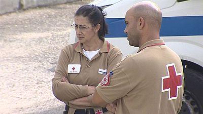Equipos de psicólogos y sanitarios atienden a las personas afectadas por los incendios de Portugal