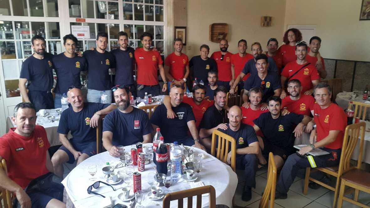 Los bomberos de la Comunidad de Madrid regresan tras luchar contra el incendio de Portugal