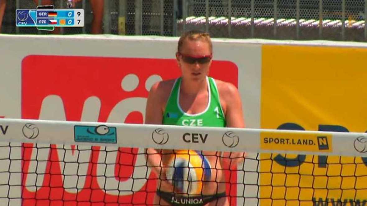 Voley playa - 'Masters CEV 2017' 1ª Semifinal Femenina, desde Baden (Austria) - ver ahora
