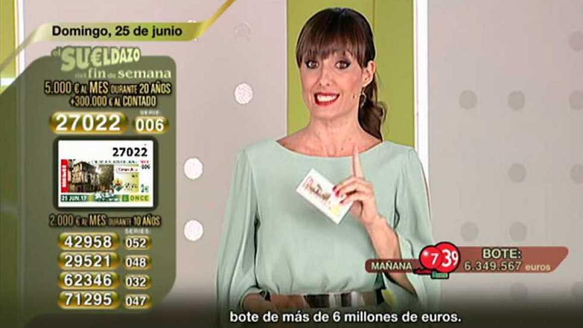 Sorteo ONCE - 25/06/17 - ver ahora