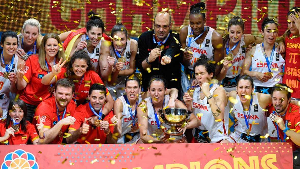 Resultado de imagen de España agranda su leyenda con su tercer oro europeo