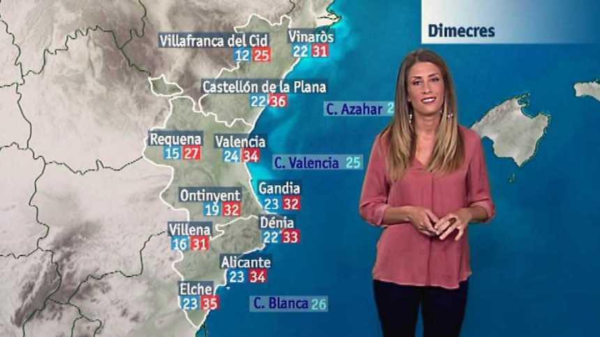 El tiempo en la Comunidad Valenciana - 27/06/17