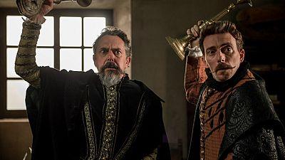 El Ministerio del Tiempo - Amelia da una lección a Cervantes y a Lope de Vega
