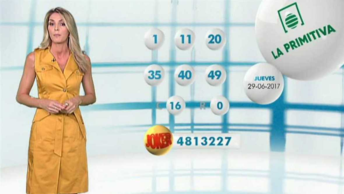 Lotería Nacional + La Primitiva + Bonoloto - 29/06/17 - ver ahora