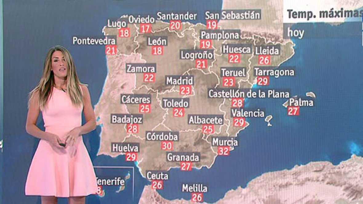 Temperaturas más bajas de lo normal en la mayor parte de España