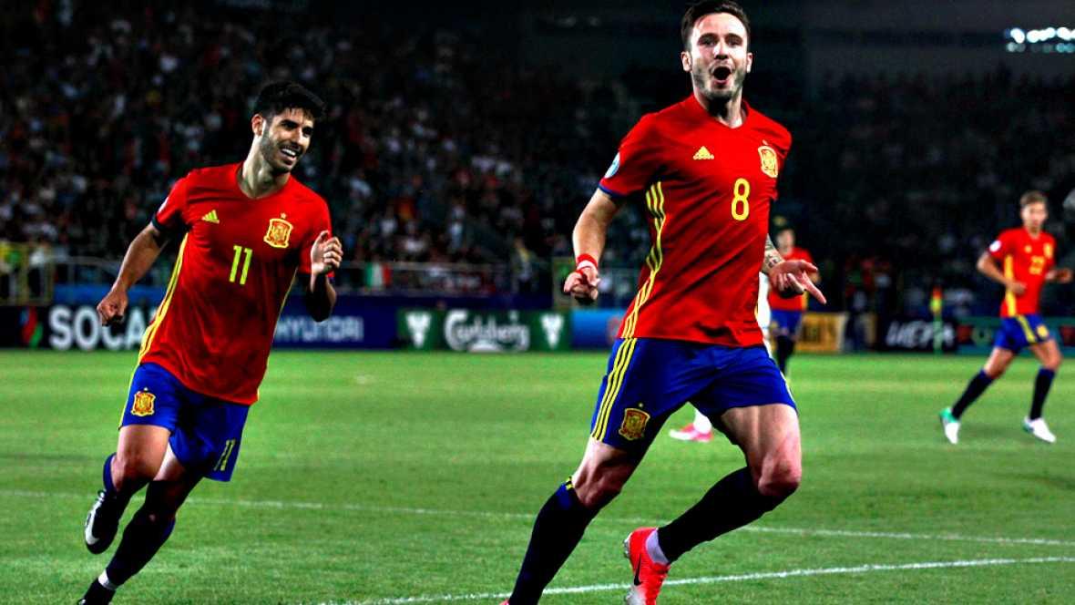 España sub-21 busca su quinto título en la final del Europeo de Polonia, para igualar a Italia como la selección con más éxitos, con una generación en la que durante el torneo ejerció un liderazgo incontestable Saúl Ñíguez, y que tiene en la potente