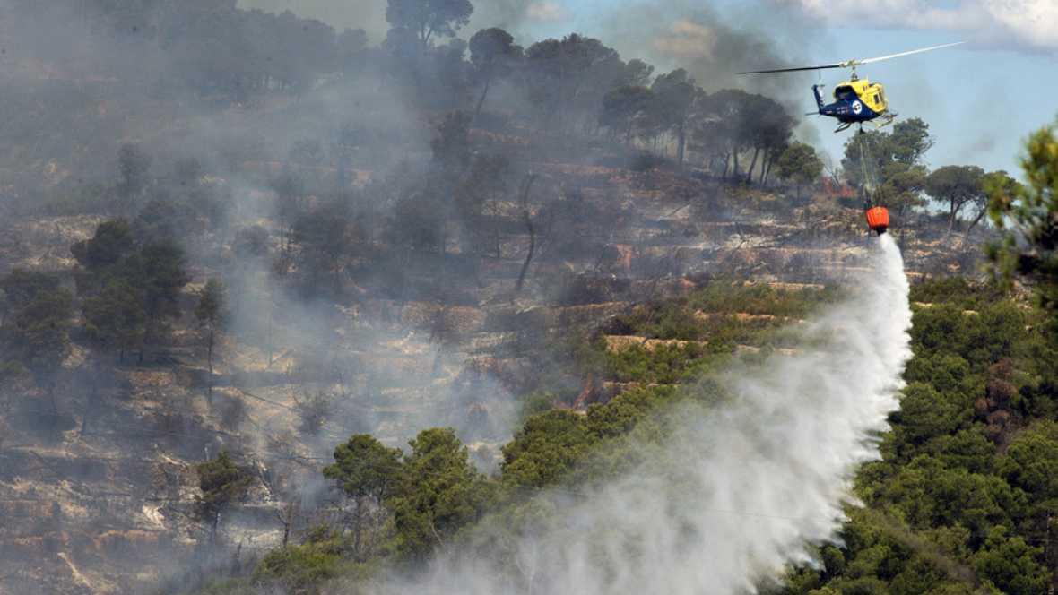 Estabilizado el incendio de la Sierra Calderona