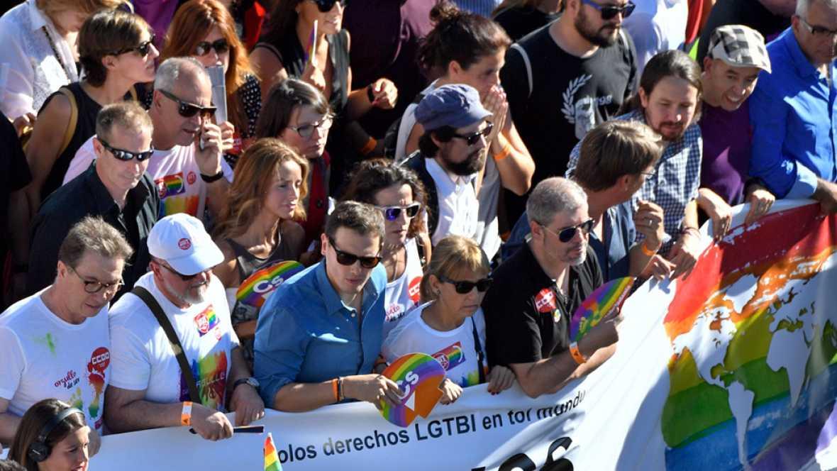 Todos los partidos expresan su apoyo al colectivo LGTBI