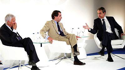 Los tres expresidentes arremeten contra los planes independentistas de Puigdemont