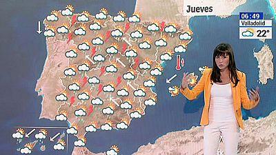 Fuertes lluvias y descenso de termperaturas en el interior peninsular