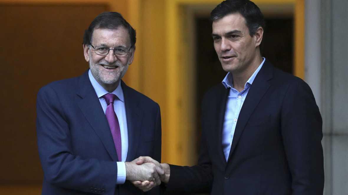 Rajoy y Sánchez acuerdan mantener un diálogo permanente sobre Cataluña