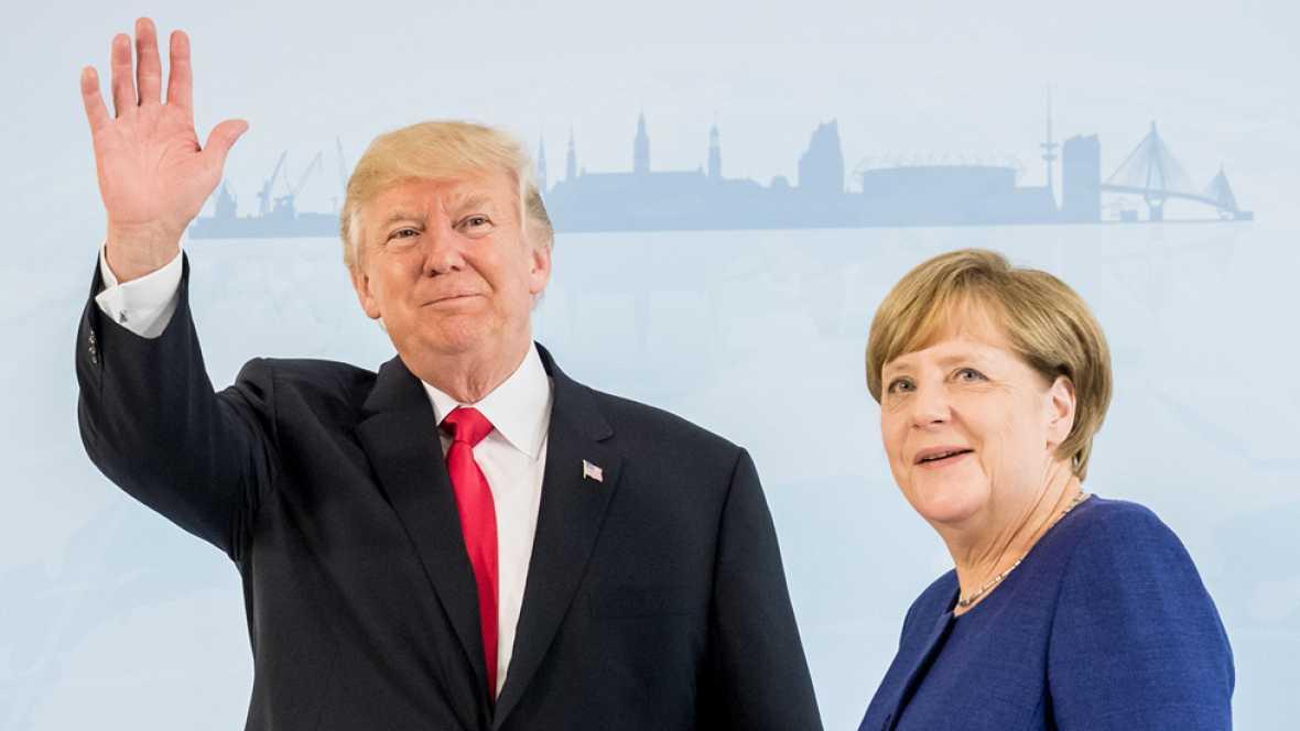 Merkel y Trump se reúnen la vispera del G20 a la espera de un consenso difícil