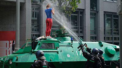 Comienza el G-20 con fuertes protestas en la calle