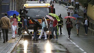 La lluvia caída en Madrid complica los desplazamientos y provoca inundaciones