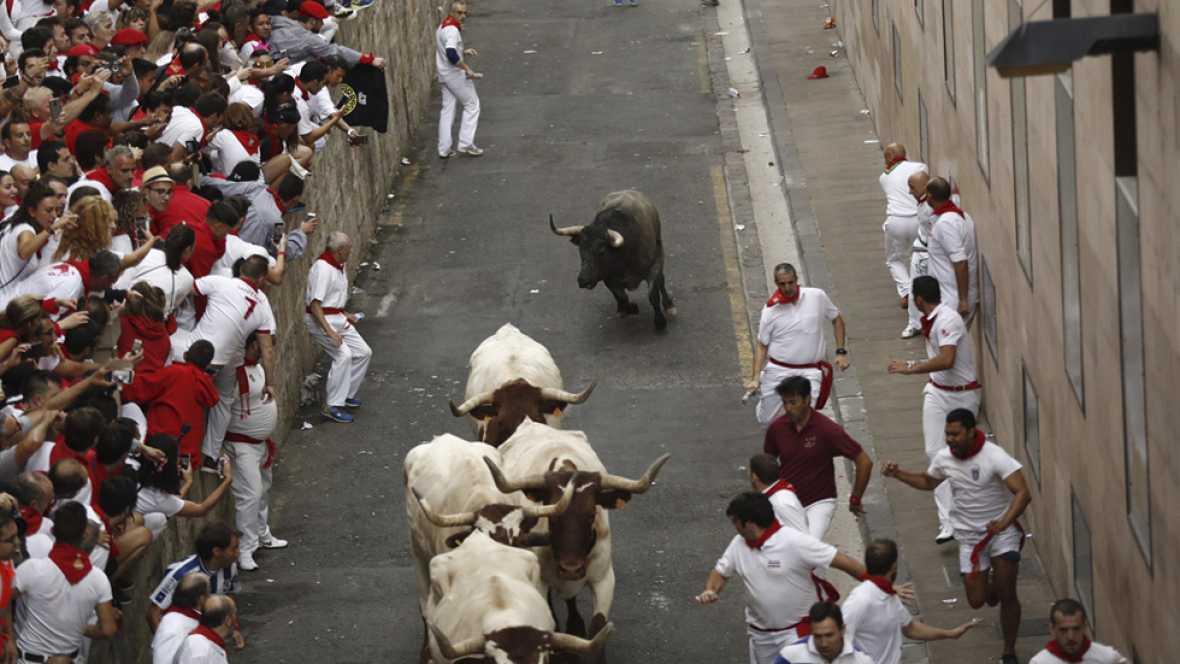 Tercer año consecutivo en que un toro de la ganadería de José Escolar se vuelve a los corrales en los Sanfermines