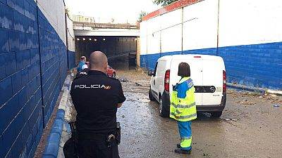 La tromba de agua deja un muerto en Madrid