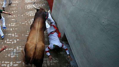 Tercer encierro de Sanfermines 2017 con toros de Puerto de San Lorenzo