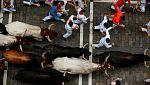 Cuarto encierro de San Fermín 2017 con toros de Fuente Ymbro