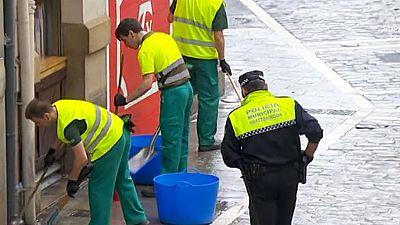 Cómo es la limpieza de las calles antes de los encierros de San Fermín