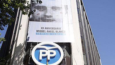 El PP homenajea a Miguel Ángel Blanco con una pancarta en Madrid