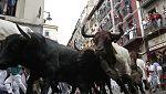 Cuarto encierro de San Fermín: muy rápido, con muchas caídas, pero sin heridos por asta de toro
