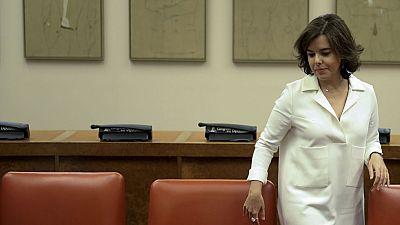 Soraya Sáenz de Santamaría critica que los independentistas no asuman sus responsabilidades