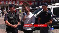 Policia extranjera en Madrid