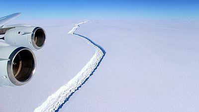 Se desprende de la Antártida un bloque de hielo como la provincia de Alicante
