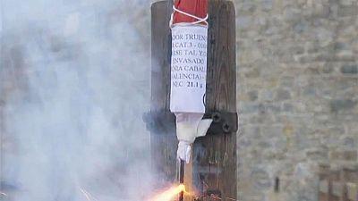 Dos cohetes dan inicio cada mañana a los encierros de los Sanfermines