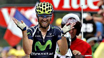 El murciano fue el único capaz de entrar en meta por delante de los dos colosos británicos en la primera vez que el Tour llegaba a la estación invernal gala en 2012.