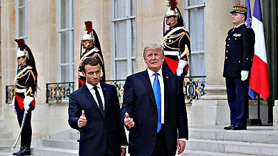 Trump y Macron ensalzan en París los vínculos entre EE.UU. y Francia