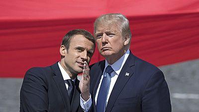 Macron y Trump exhiben la fortaleza del vínculo entre Francia y EE.UU. durante la fiesta del 14 de julio