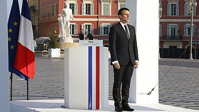 Macron preside los actos de conmemoración del primer aniversario del atentado en Niza