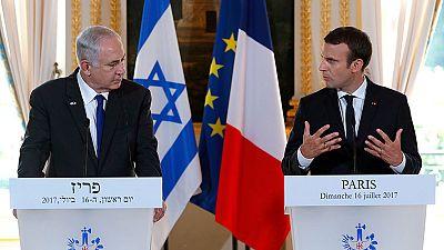 Macron reafirma ante Netanyahu su posición a favor de dos Estados y reclama reanudar el diálogo