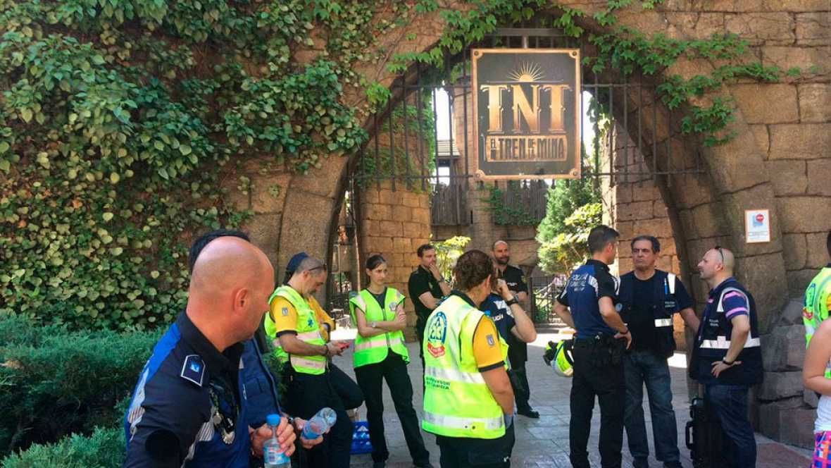 33 heridos en una montaña rusa del Parque de Atracciones de Madrid