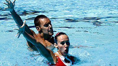 La pareja española ha terminado quinta en la final del sólo mixto técnico, con una puntuación de 84,3336 puntos.