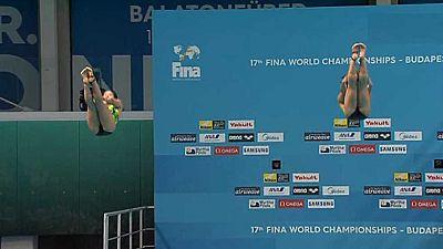 Natación Saltos - Campeonato del Mundo '3MT Sincro Femenino' Final - ver ahora