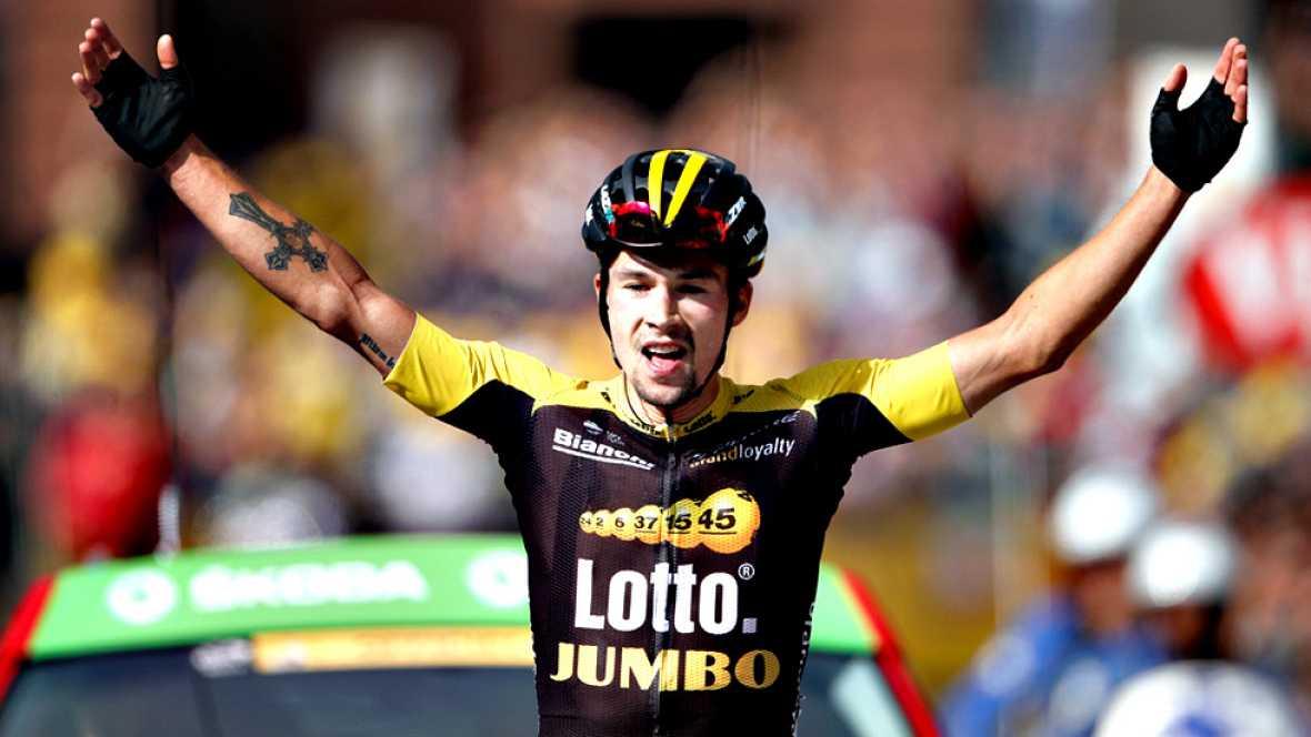El esloveno Primoz Roglic se impuso hoy en la decimoséptima etapa del Tour de Francia, la primera alpina, mientras que el británico Chris Froome conservó el maillot amarillo y el colombiano Rigoberto Urán se situó en la segunda posición de la general
