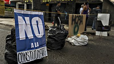 Huelga de la oposición en Venezuela contra la Constituyente de Nicolas Maduro